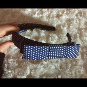 Make offer-Smoothies Navy/White Polkadot headband